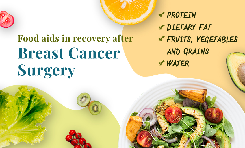 Food aids in recovery from breast cancer surgery